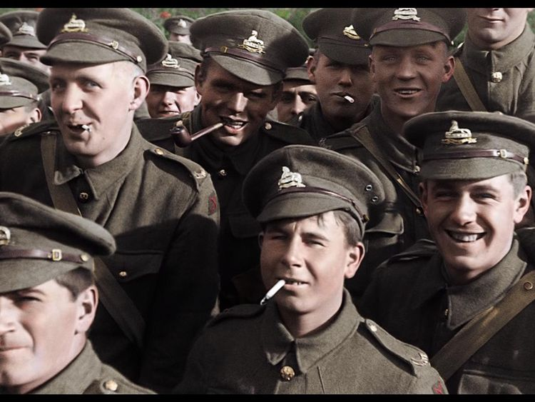 One of the shots Peter Jackson has reworked. Pic: They Shall Not Grow Old/WingNut Films