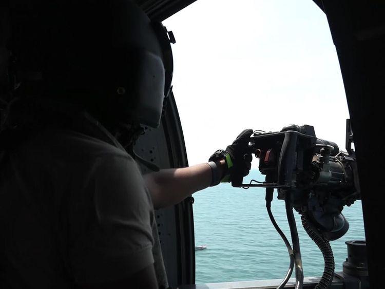 Naval blockade controls the flow of food