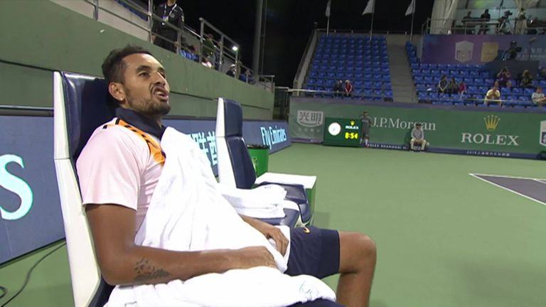Kyrgios beats hasty Shanghai retreat for third year running class=