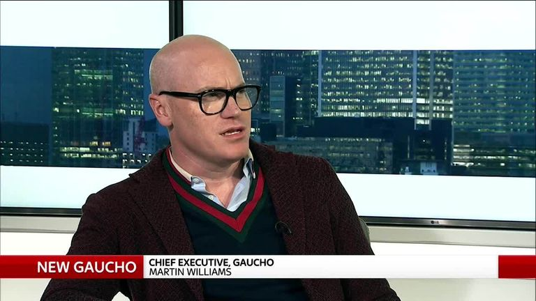 Gaucho CEO Martin Williams appearing on Ian King Live, on Thursday October 25 2018