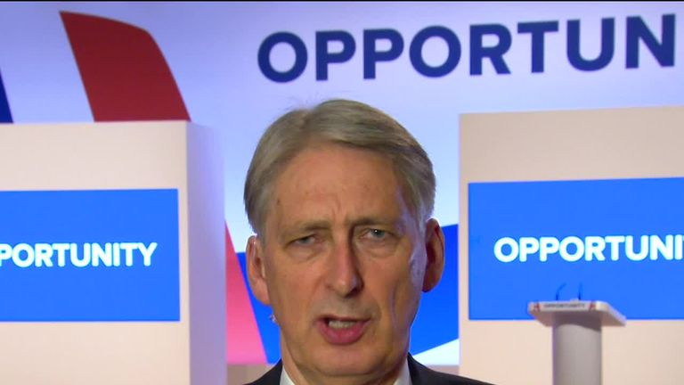 "Chancellor Philip Hammond has asserted that the UK economy will be able to cope with a ""no-deal"" Brexit."