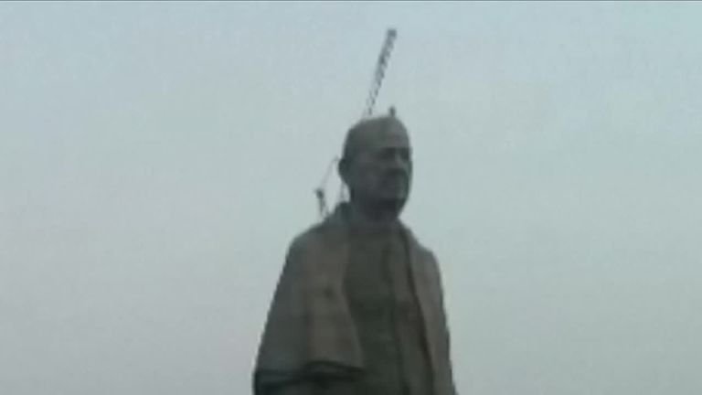 The world's tallest statue has been unveiled in India.