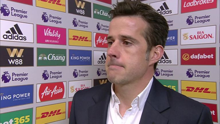 4:24                                               Marco Silva hailed his side's performance at the King Power Stadium