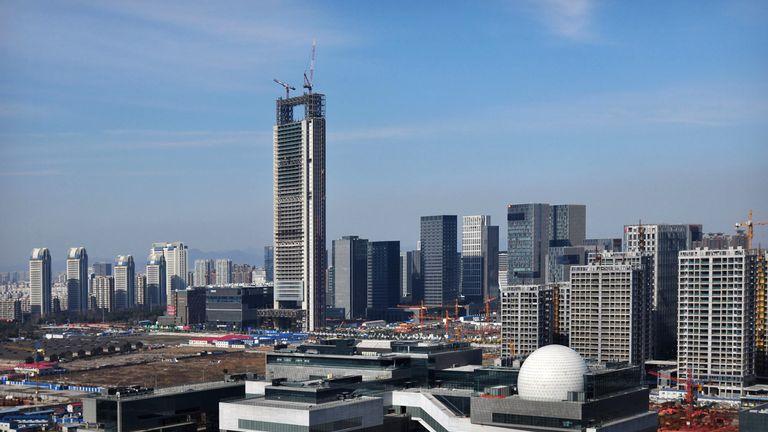 Ningbo city in China