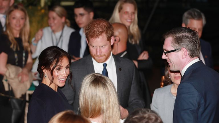 The Duke and Duchess of Sussex at the Invictus Games in Sydney