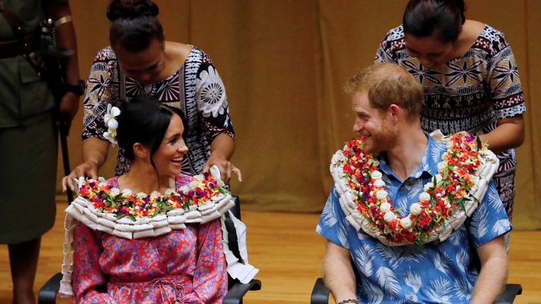 Meghan and Prince Harry in Fiji