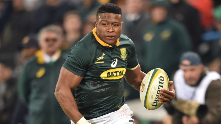 5:25                                            Springboks wing Aphiwe Dyantyi speaks to Miles Harrison about his rise in international rugby and the All Blacks test