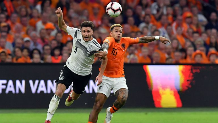 Highlights of the UEFA Nations League group match between Netherlands and Germany.