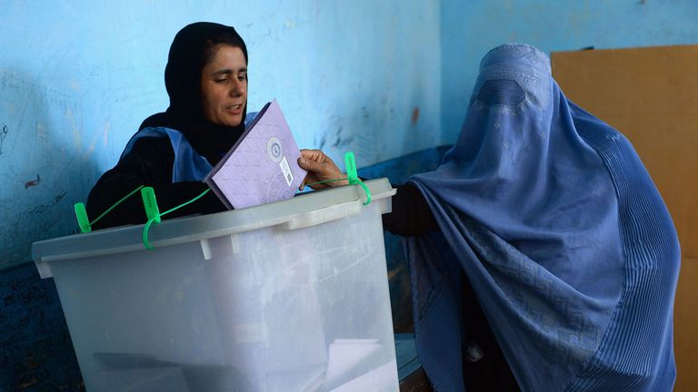 Many women voted in the election