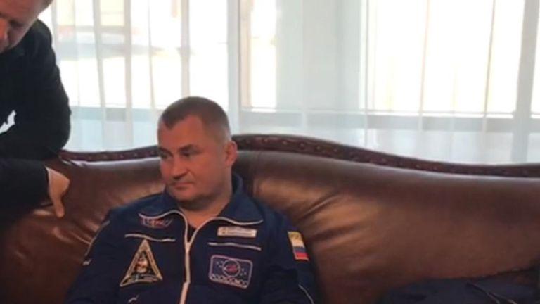 Cosmonaut Alexey Ovchinin
