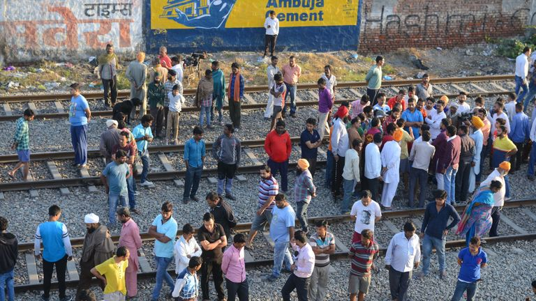 Locals and relatives have returned to the tracks on Saturday