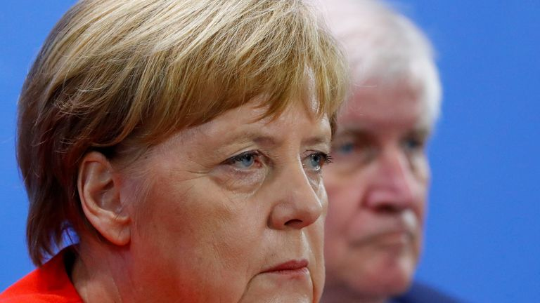 Angela Merkel and Horst Seehofer have been at loggerheads