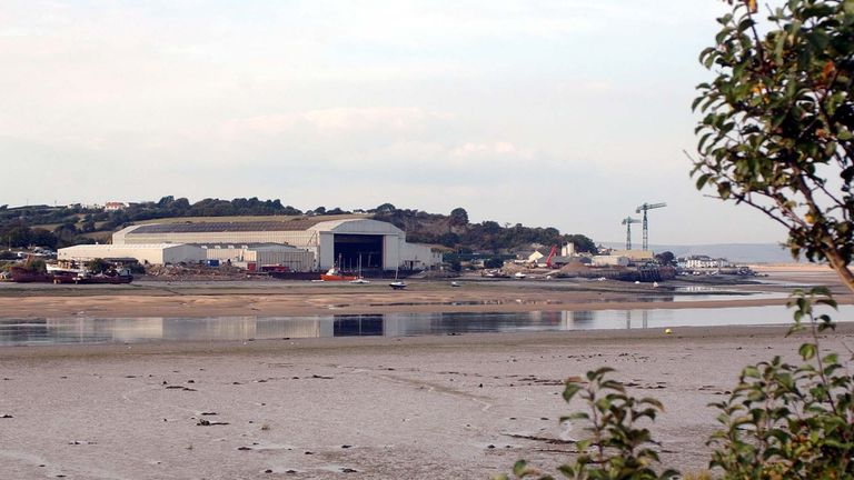 2003: Appledore Shipyard in north Devon, where staff are demonstrating over the future of Britain's oldest firm of commercial shipbuilders. Around 100 workers staged a demonstration last night at the 148-year-old Appledore Shipbuilders yard in north Devon after the firm was put into the hands of the receivers yesterday.