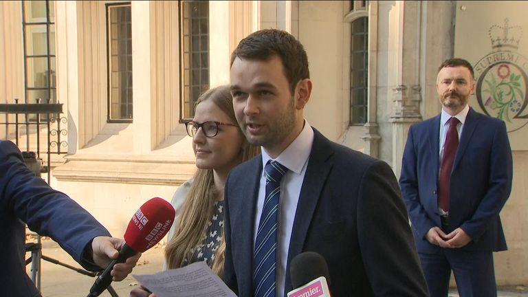 Daniel McArthur spoke after the Supreme Court ruled in his favour