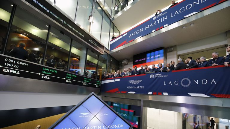 Aston Martin makes its debut on the London Stock Exchange