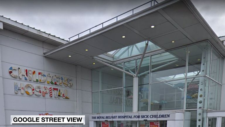 A two-week-old baby who was allegedly raped is reportedly being treated at Royal Belfast Hospital for Sick Children