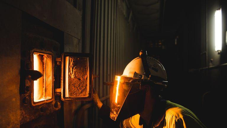 A Drax biomass furnace