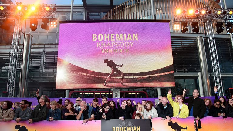 Bohemian Rhapsody is released in UK cinemas on Wednesday