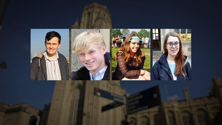 Some of the Bristol University students thought to have killed themselves