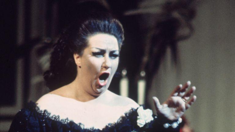 Montserrat Caballe in Verdi's opera La Traviata at the Royal Opera House, Covent Garden, in 1972