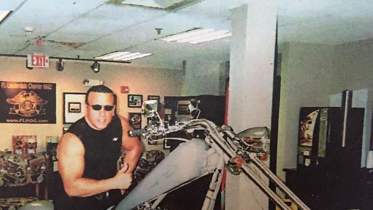 Sayoc shared images of his younger self astride a motorbike. Pic: Cesar Sayoc