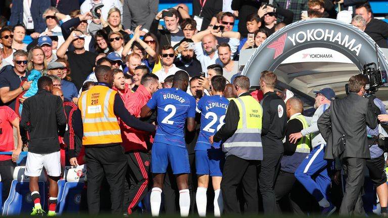 Players and coaching staff were involved in the confrontation
