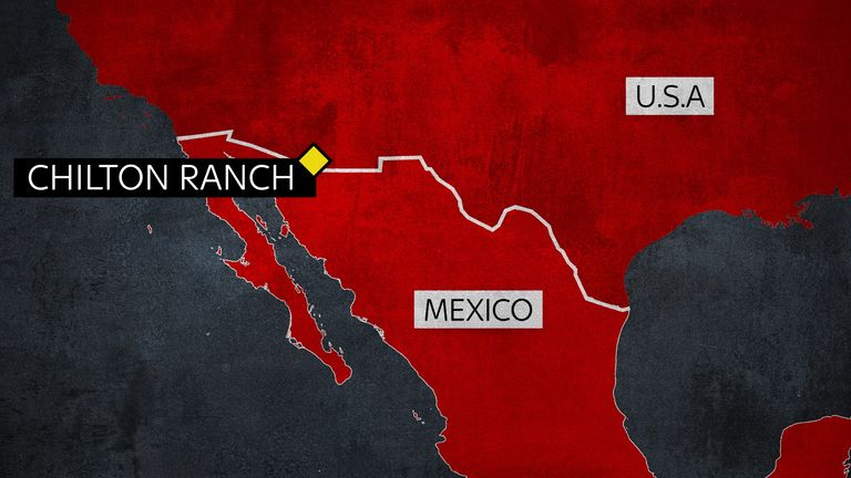 The ranch is right on the US-Mexico border