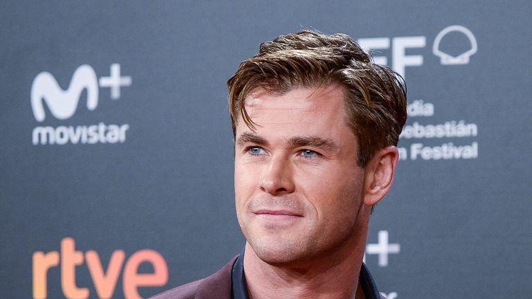 Chris Hemsworth on the red carpet of the closure gala during 66th San Sebastian Film Festival in Spain 2018