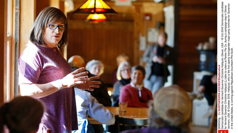 Christine Hallquist is trying to become the first transgender candidate to be elected governor in the US