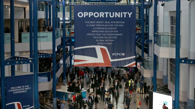 A general view of the Conservative Party annual conference at the International Convention Centre,…