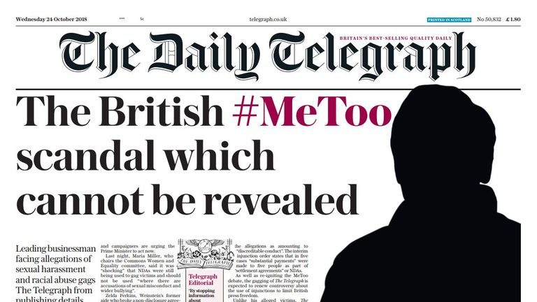 The Daily Telegraph has been stopped from naming the businessman