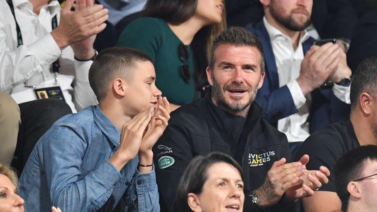 David Beckham attends the Invictus Games 2018 wheelchair basketball final in Sydney