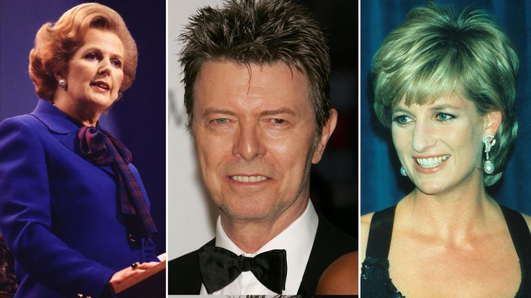 Margaret Thatcher, David Bowie and Princess Diana could all be nominated to appear on the new £50 note