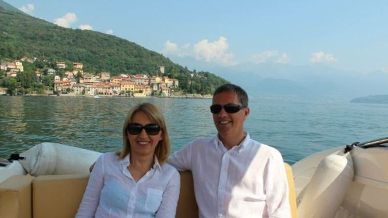 Eric Swaffer and his partner Izabela Roza Lechowicz. Pic: Lucie Morris-Marr