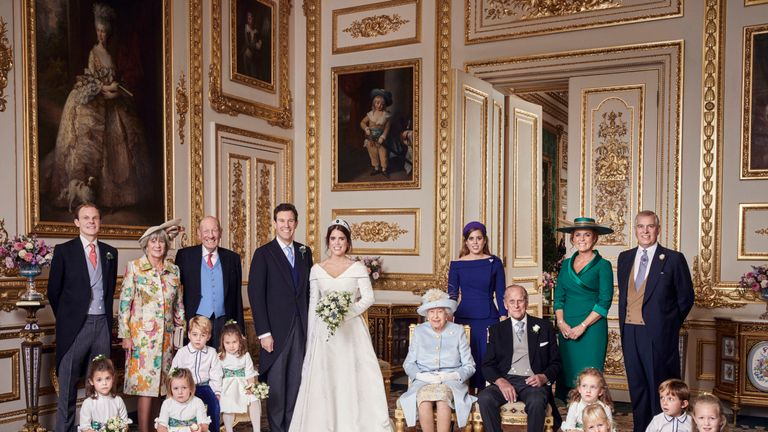 850 guests, including more than 40 royals, were at the wedding Pic: Alex Bramall