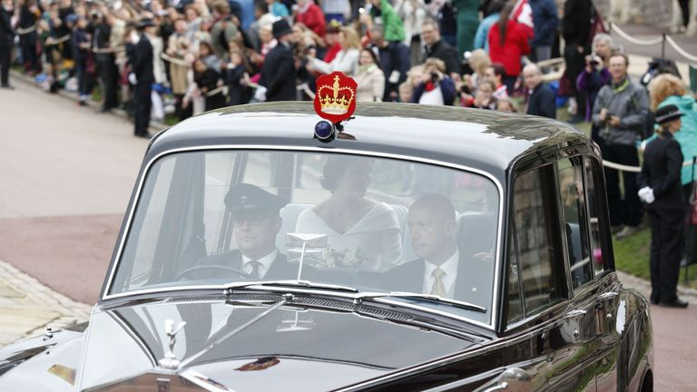 Eugenie arrived in the same car used by the Duchess of Cambridge in 2011