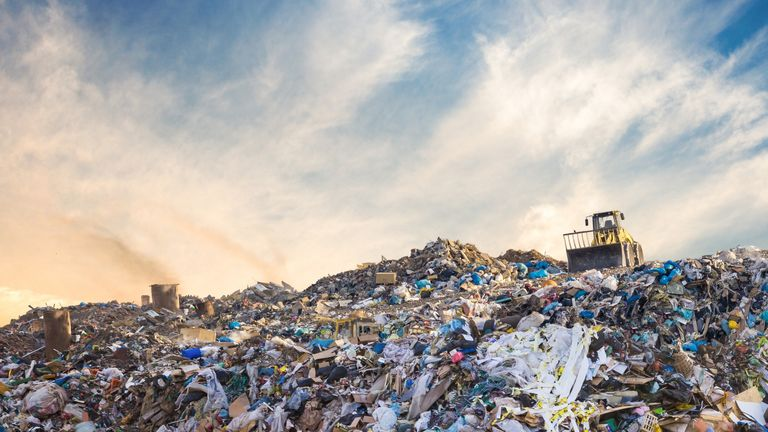 Garbage pile in trash dump or landfill. Pollution concept. - iStock image