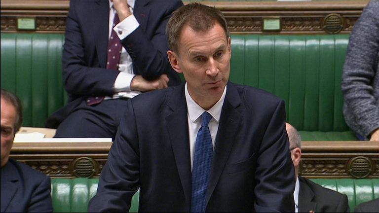 """Foreign Secretary Jeremy Hunt said Saudi Arabia's official claim that Mr Khashoggi died in a fight at the Gulf kingdom's consulate in Istanbul was """"not credible"""""""