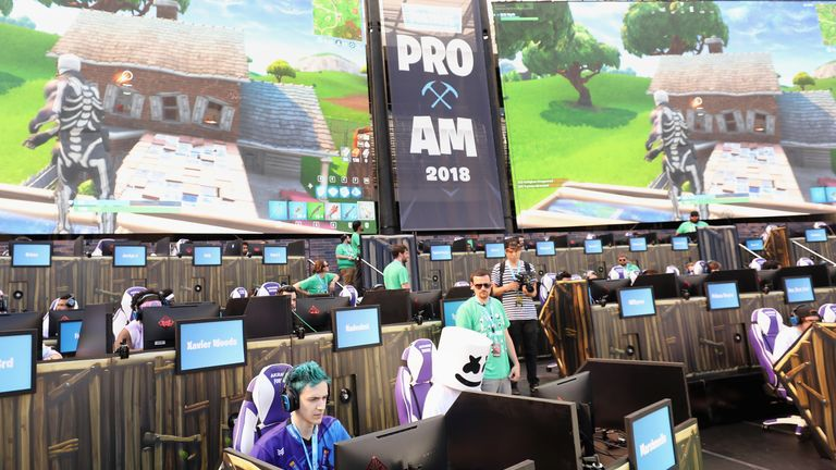 A Fortnite tournament was held at a Los Angeles stadium in June
