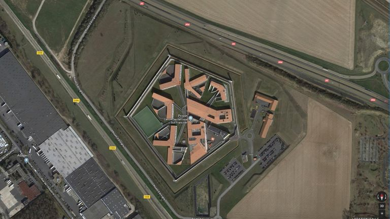 Images of French prisons are available on Google Maps. Pic: Google
