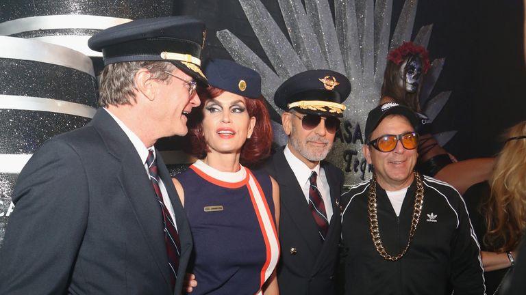 Rande Gerber, Cindy Crawford, George Clooney and Mike Meldman