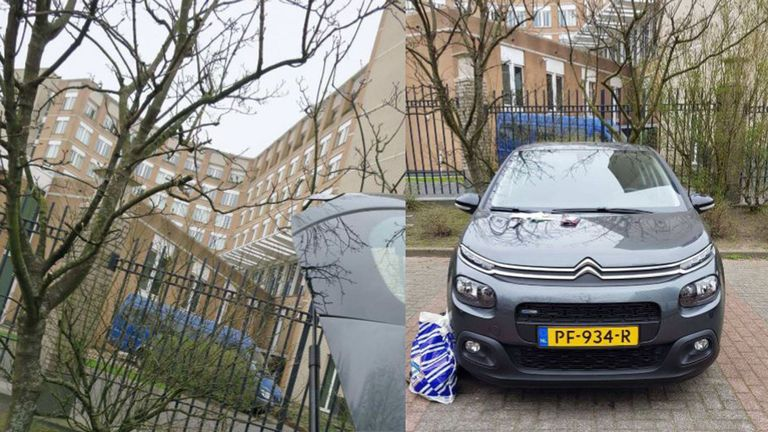A car carrying hacking equipment used by GRU officers, travelling on official Russian passports, parked near the headquarters of the OPCW in The Hague