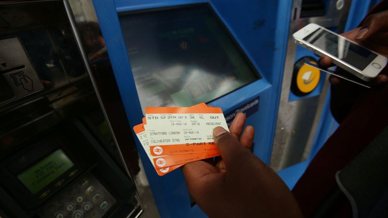 Commuters have been unable to purchase train tickets with their cards