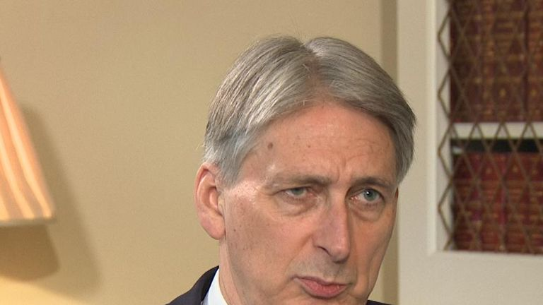 Philip Hammond talks about potholes