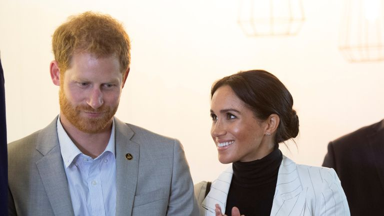 Prince Harry and Meghan attend a lunchtime Reception for Invictus Games competitors, their family and friends in Sydney