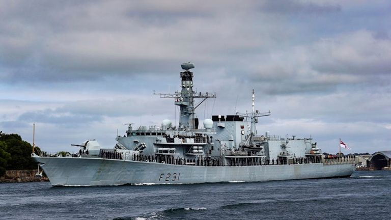 The HMS Argyll is going to Indonesia to help. Pic: Royal Navy
