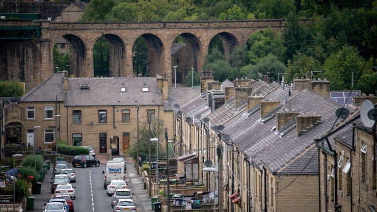 A general view of the townscape of Huddersfield as 31 people are charged in the Huddersfield sex abuse investigation on August 16, 2018 in Huddersfield, England. Thirty men and one woman are due to appear at Kirlklees Magistrates Court on September 5th to face charges in the wake of the Huddersfield Child Sex Abuse inquiry.