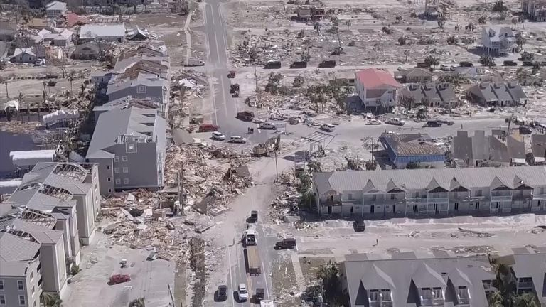 "Large parts of Florida have suffered ""unimaginable destruction"" after the third-strongest hurricane in US history slammed into the sunshine state."