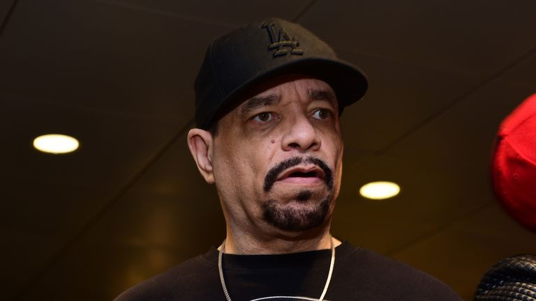 Ice-T, seen at the Grammy Awards, has been arrested for failing to pay a toll on the George Washington Bridge
