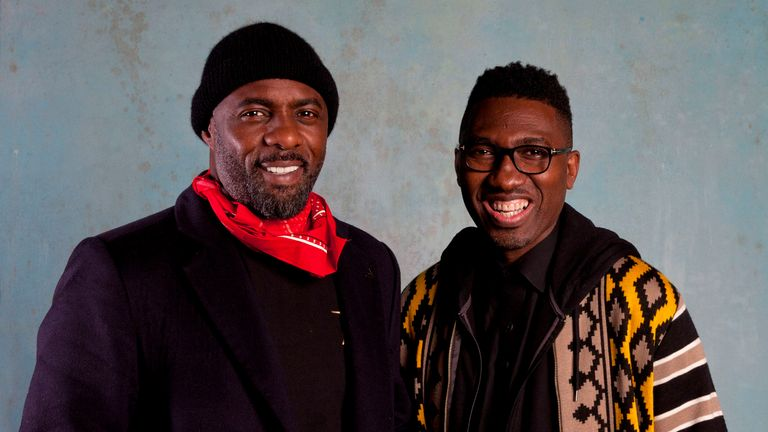 Idris Elba (left) with Kwame Kwei-Armah, artistic director of the Young Vic Theatre